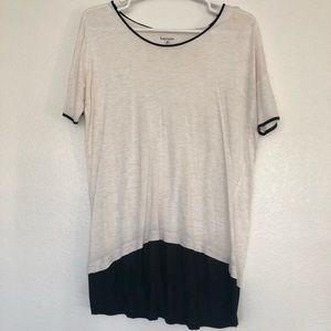 Long Kensie black and white shirt